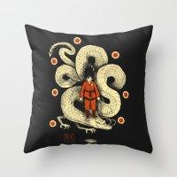 dbz Throw Pillows featuring dbz by Louis Roskosch