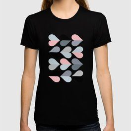 Love and Kisses in Pink and Grey T-shirt