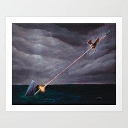 Bazooka Whale Art Print