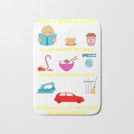 Fibromylagia Living With Fibromyalgia Or Medical Doctor Gift Bath Mat