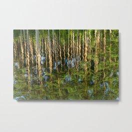 reflection wave pine Metal Print
