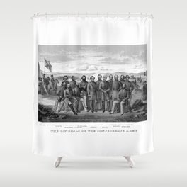 The Generals Of The Confederate Army Shower Curtain