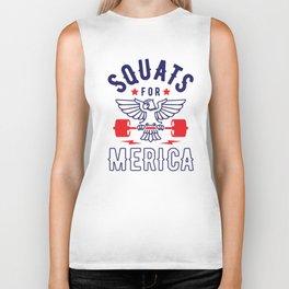 Squats For Merica v2 Biker Tank