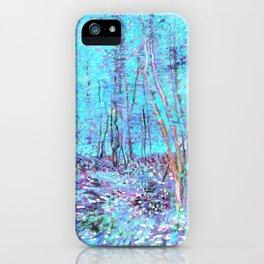 Van Gogh Trees & Underwood Aqua Lavender iPhone Case