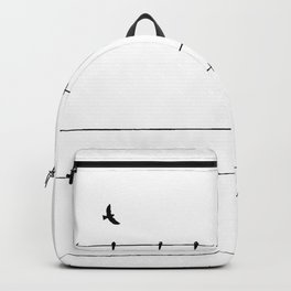 The Birds on the Line (Black and White) Backpack