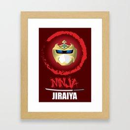 Jiraiya, The Incredible Ninja [Red Background Version] Framed Art Print