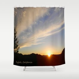Top of the Summit Sunset Shower Curtain