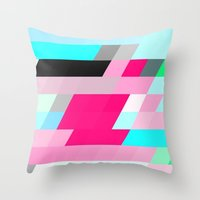 flag Throw Pillows featuring Flag by allan redd