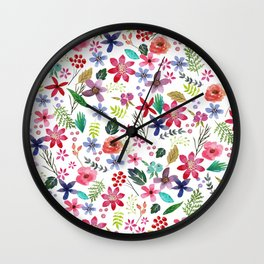 """""""The earth laughs in flowers"""" Wall Clock"""