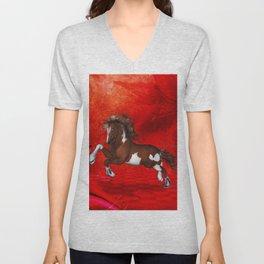 Beautiful wild horse Unisex V-Neck