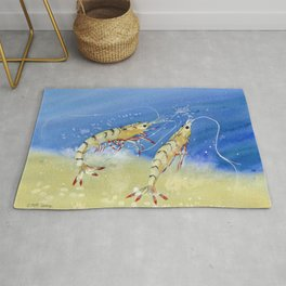 Swimming Together - Shrimp Rug