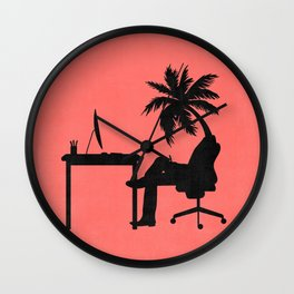 Mind on vacation Wall Clock