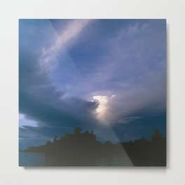 Ray of Hope in the Stormy Sky Metal Print