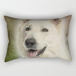 Berger Blanc Suisse Rectangular Pillow