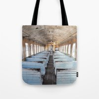 train Tote Bags featuring Train by create.mojo