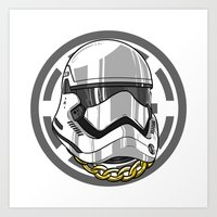 storm trooper Art Prints featuring Storm Trooper by KODYMASON