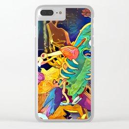 Pickle Rick Clear iPhone Case