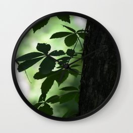 Light in the Woods Wall Clock