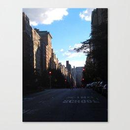 Street Crossing Canvas Print