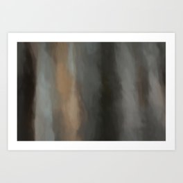 Abstract Lines Beige Grey and Black Shades.   Like painted on canvas. Art Print
