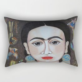 Frida thoughts Rectangular Pillow