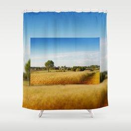 Rural wheat field view Shower Curtain