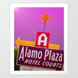 Alamo Plaza Purple Art Print