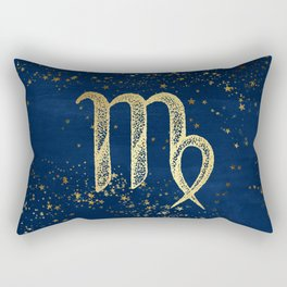 Virgo Zodiac Sign Rectangular Pillow