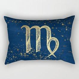Virgo Zodiac Sign Rectangular Pillow