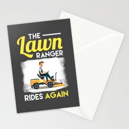 Lawn Enforcement Officer The Lawn Ranger Rides Again Stationery Cards