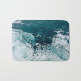 Ocean Waves (Teal) Bath Mat