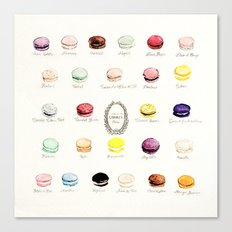 laduree macaron menu  Canvas Print