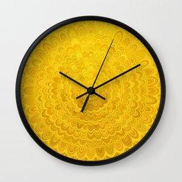 Golden Flower Mandala Wall Clock