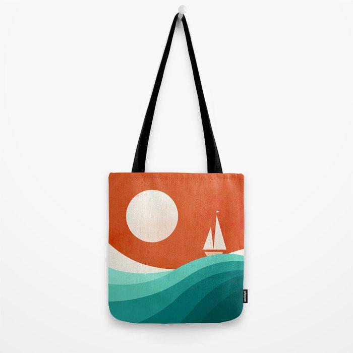 Wave (night) Tote Bag