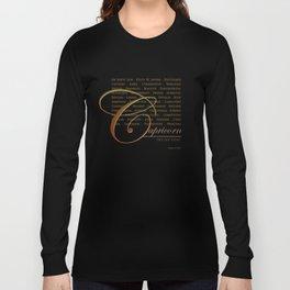 Sign Language for Capricorn Long Sleeve T-shirt