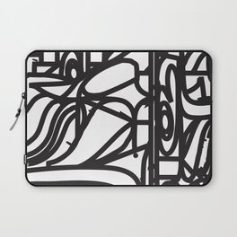 Stained Glass Patter (Black outlines) Laptop Sleeve