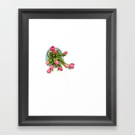 Grateful tulips Framed Art Print