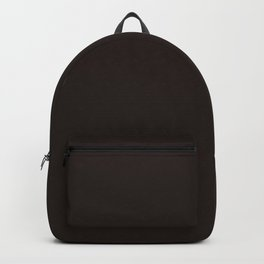 Dark brown black chocolate pure clear cocoa color Backpack