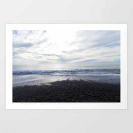 Rodeo Beach with Killer Clouds Art Print
