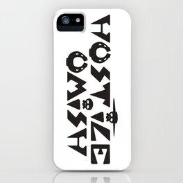 Hostile Omish Classic Logo [Black] iPhone Case