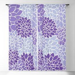 Ultra Violet Lavender Dahlias Blackout Curtain