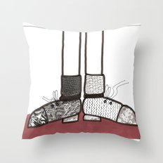 in my shoes Throw Pillow