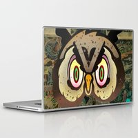 howl Laptop & iPad Skins featuring Owl Howl by Beery Method