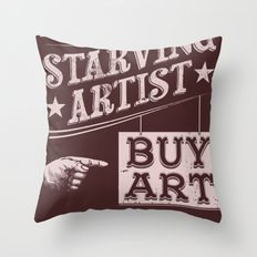 Feed an Artist Throw Pillow