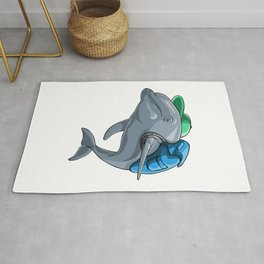 Dolphin Back to School Kids Pre-School Elementary Rug