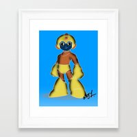 megaman Framed Art Prints featuring Megaman by The Renegade