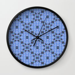 Bow Tie Star Quilt Wall Clock