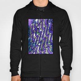 Tangles in the purple waves Hoody