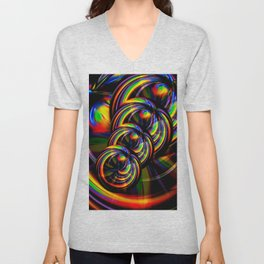 Creations in the color spectrum of the rainbow 3 Unisex V-Neck