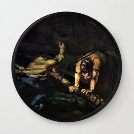 Paul Cezanne - The Murder - Digital Remastered Edition Wall Clock